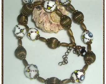 Charming necklace with Lampwork