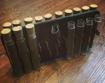 Vintage Medical Science Glass Vials with Holder
