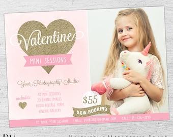 Valentine Mini Template, Valentine Mini Session Template, Mini Session Template, Valentine's Day, Marketing Photography, 05-001