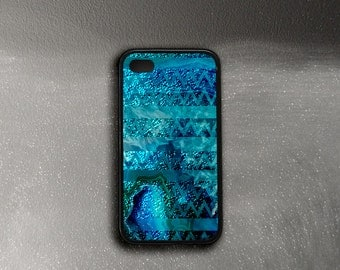 Teal iPhone 4 Case Shimmer, Tribal Ocean iPhone 4s Case, iPhone Case Druse, iPhone 6 Case Turquoise, Protective Case iPhone, iPhone 4 Cover