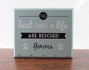 Personalized Dog Leash Holder - Perfect for rescued pets!