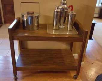 Vintage Bar Cart T.V. Stand On Wheels 20% Off Moving SAle Use Code COLORADO
