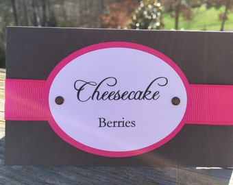 Brown & Hot Pink Candy Tags