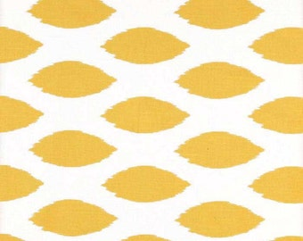 Chipper Slub Corn Yellow Premier Prints Fabric - One Yard - Yellow and White Home Dec Fabric