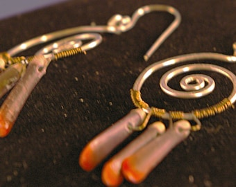 Spirals with Sea Urchin Spines Earrings