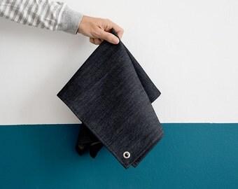 TEA TOWEL DENIM, Soft and durable indigo dish towel, Kitchen Decor,  Linens for kitchen, Minimal Fabrics
