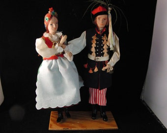 Vintage Polish wedding dolls