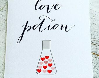 Love potion valentine's card