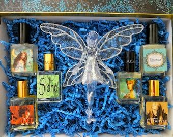 Seelie Court Perfume Gift Set 6 Perfumes/Colognes, Fairy Perfumes Gift Set, Faery Perfumes, Fantasy Perfumes Gift Set, Perfume Gift Set