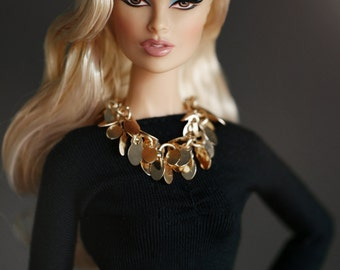 Golden necklace for Fashion Royalty , Barbie