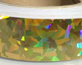 "1"" Golden Kaleidoscope Metallic Hula Hoop Tape"