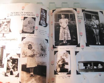 1920s 1930s Baby Book MANY Antique Photos Family Cheyenne Wyoming
