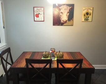 Reclaimed Pallet Wood Dining Table, Upcycled, Louisiana(Small)