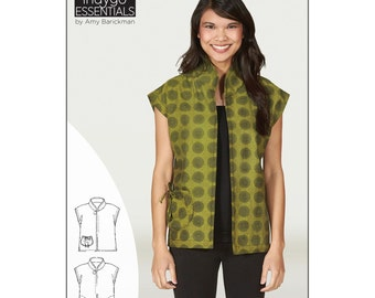 "Pattern ""Mandarin Vest"" by Indygo Junction (IJ1152E) Paper pattern Indygo Essentials"