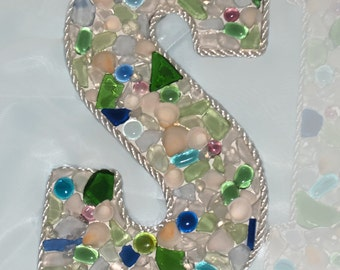Sea Glass Letters - Made To Order Custom - Coastal Beach Decor Wedding Gift and Supplies Accessories and Photo Shoot Props