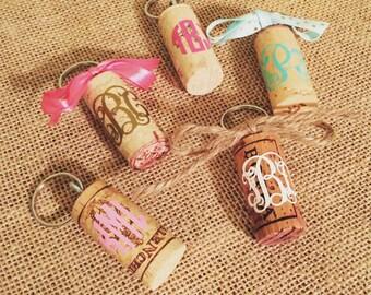 Wine Cork Keychains- monogrammed!