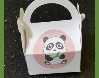 Panda party Favors, Panda Favor Boxes,Panda Birthday Boxes, Panda baby shower