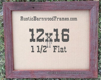 12x16 1 12 red flat rustic barn wood weathered reclaimed primitive photo picture frame 12 x 16 repurposed barnwood frames