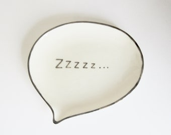porcelain spoon rest or ring dish