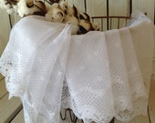 """White Lace Fabric By The Yard 11"""" Gorgeous Detailed Floral Lace Bridal Wedding Lace Sewing Supply by picadillymarket"""