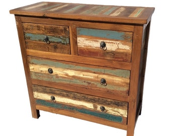 Four Drawer Reclaimed Wooden Dresser