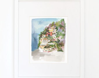 Positano - Watercolor Art Print