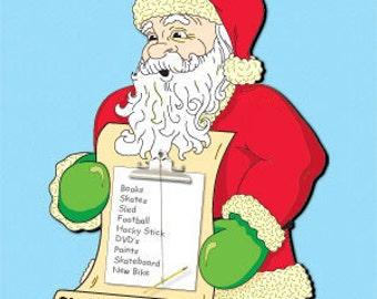 Santa Christmas List Holder Pattern