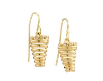 Gold earrings Dangle earrings Diamond earrings Drop earrings Simple Earrings Bridal earrings Wedding Earrings Everyday Earrings Minimalist