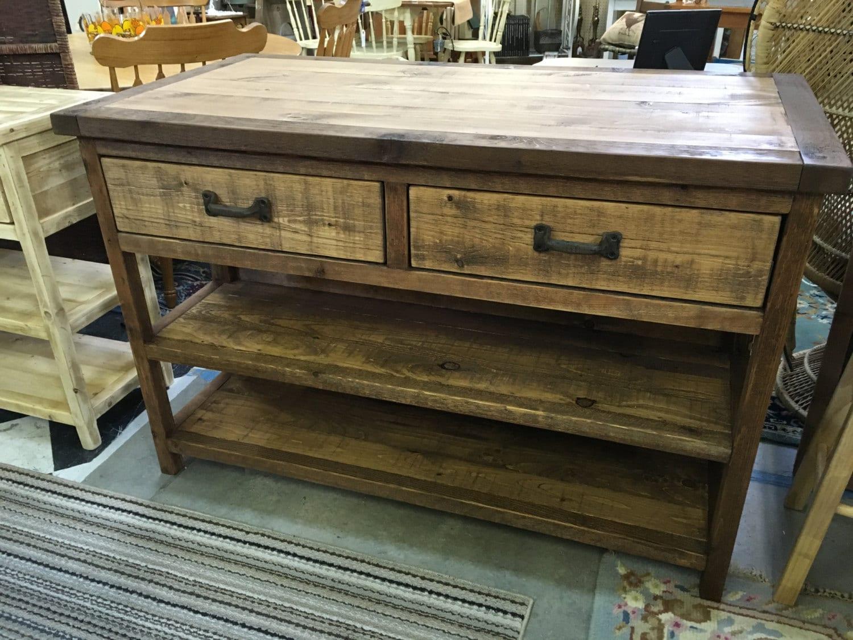 reclaimed lookalike island bar cabinet console table