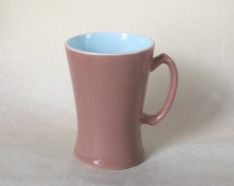 Langley Lucerne Mug, Brown and Blue, Denby. Made in England.