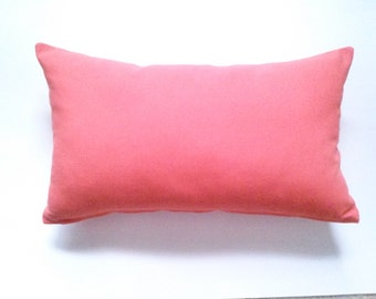 Coral Lumbar Pillow Cover, 12''x20 Decorative Coral Pillow Cover, Lumbar Pillow Cover