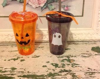 Halloween acrylic drinking cups