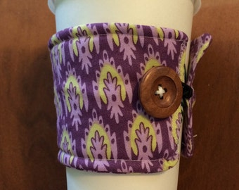Purple Coffee Cozy Coozie Sleeve Cuff Insulated Gift