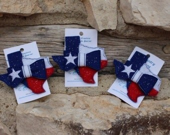Texas Style Clip - Red, White & Blue