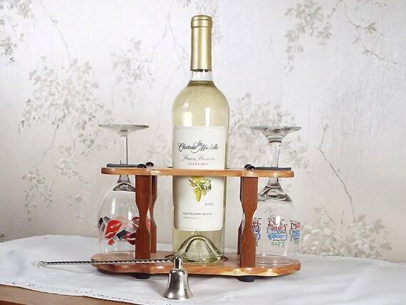 7 - Wine Bottle (1) & Stemmed Glass Caddy (2 station) Full 750ml