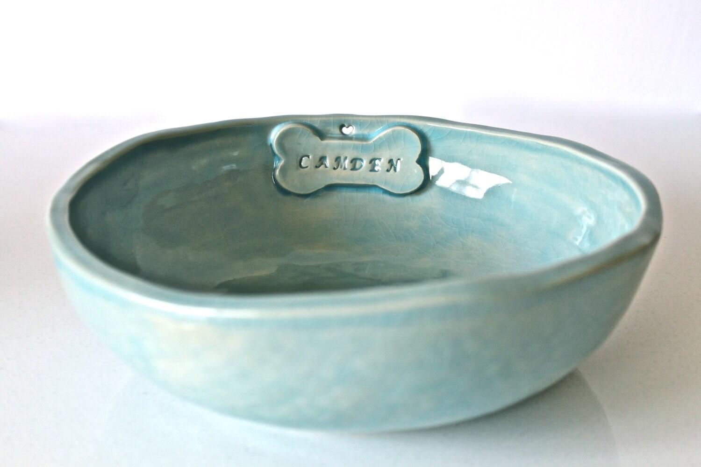 Personalized Dog Bowl Handmade Ceramic Dog Bowl - photo#39