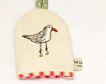 Seagull seaside themed  egg cosy