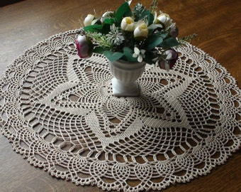 Crocheted doily Ecru doily Handmade doily Lace doilie Lace doily Crochet doilie Table decoration Crochet doily
