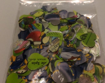 Pokemon Trading Card Heart or Star Shaped Confetti (Grass Type)