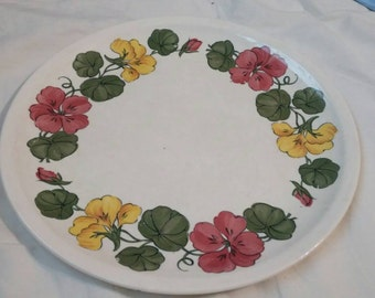 "On Sale Paden City Shenandoah Ware ""Nasturtium"" 9.25 inch Luncheon/Dinner/Chop Plate from the 1940s"