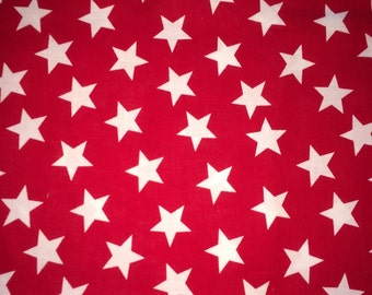 Red and white star fabric