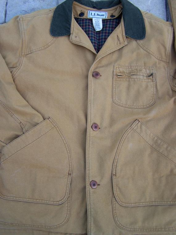 Vintage LL Bean Barn Chore Coat Jacket Native American BLANKET