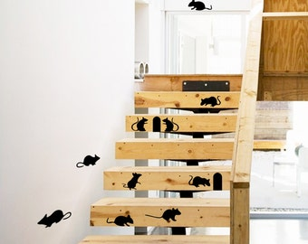 Mouse Stickers for Stairs Decor at Home (032)