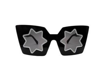Retro Abstract Vintage Star Sunglasses - STAR