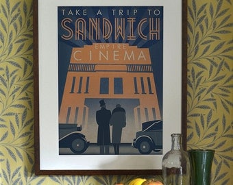 Original Design Art Deco Bauhaus A3 A2 A1 Poster Print Vintage Sandwich Cinema 1930's Car Architecture 1940's Vogue