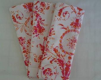 Eye Pillow/Free Ear Plugs/Orange Pink Cotton Lavender/Flax Seed Relax Spa