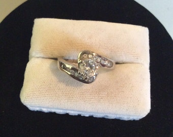 Silver tone ring size 10