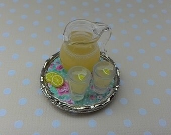1:12 Scale Dollhouse Miniature Lemonade Tray