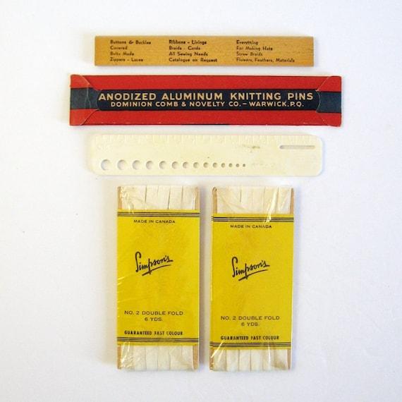 Knitting Needle Sizes Old And New : Vintage knitting needles size length inches