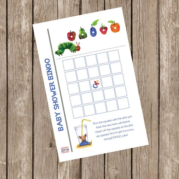 Book Themed Baby Shower Baby Shower Bingo Game Baby Shower